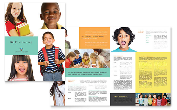 Charter School Brochure Template - Word & Publisher