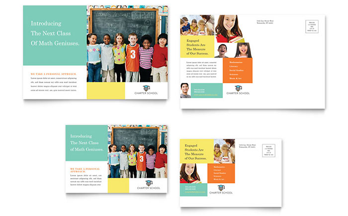 Charter school postcard template word publisher for Non profit charter template