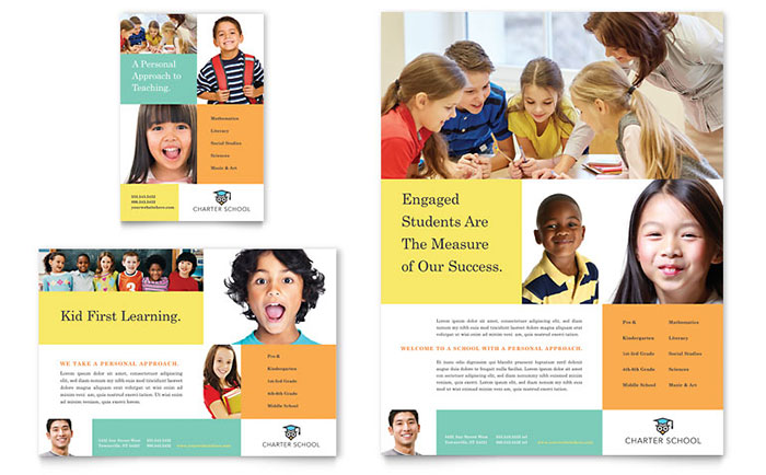 Charter School Flyer & Ad Template - Word & Publisher