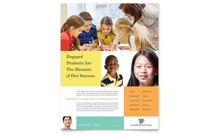 Charter School Flyer Template - Word & Publisher