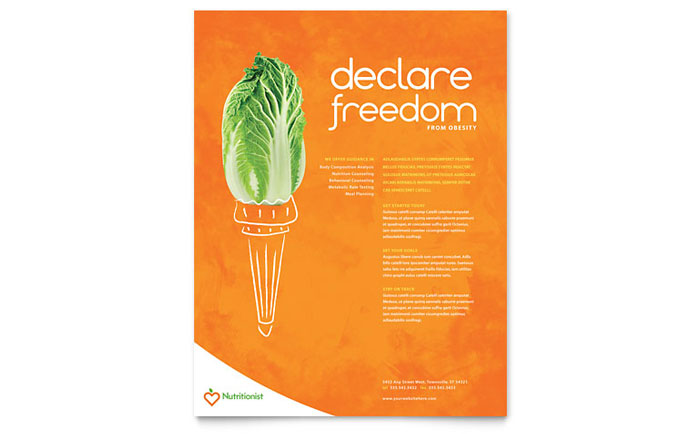 Nutritionist & Dietitian Flyer Template Download - Word & Publisher - Microsoft Office