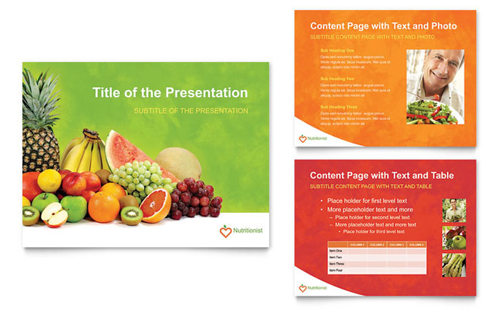Nutritionist & Dietitian PowerPoint Presentation Template Download - Microsoft Office