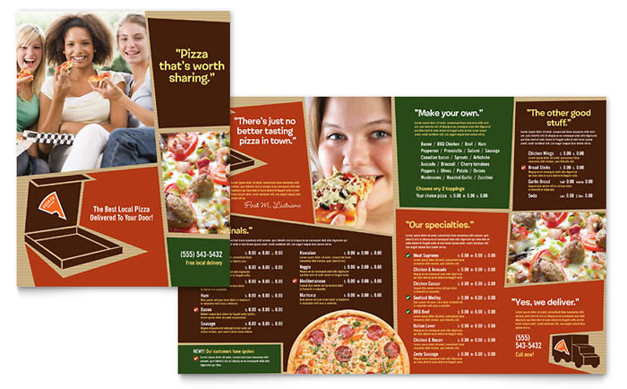 Pizza Pizzeria Restaurant Menu Template Word Publisher - Delivery menu template
