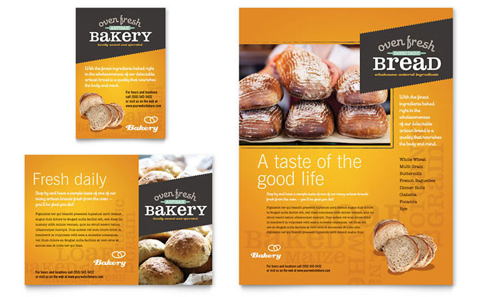 Artisan Bakery Flyer & Ad Template - Word & Publisher