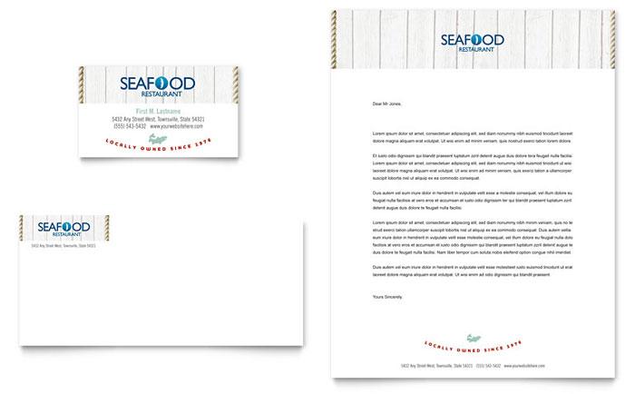 Seafood restaurant business card letterhead template word seafood restaurant business card letterhead template word publisher spiritdancerdesigns Images