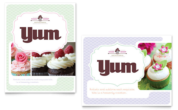Bakery & Cupcake Shop Poster Template Download - Word & Publisher - Microsoft Office