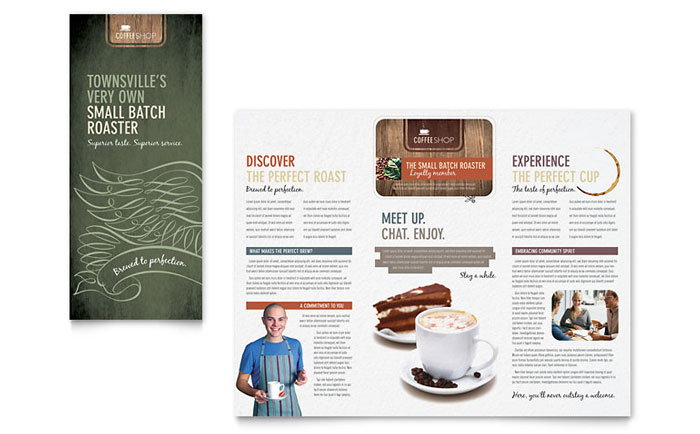 coffee shop brochure template word publisher