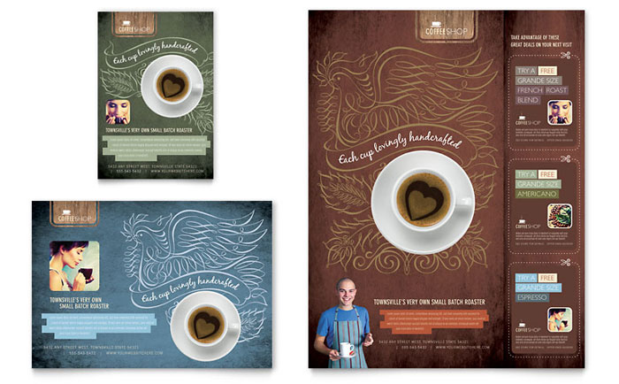 Coffee Shop Flyer  Ad Template  Word  Publisher