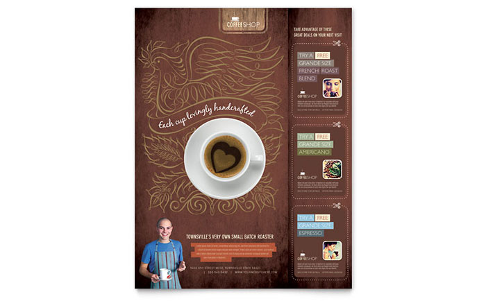 Coffee Shop Flyer Template - Word & Publisher
