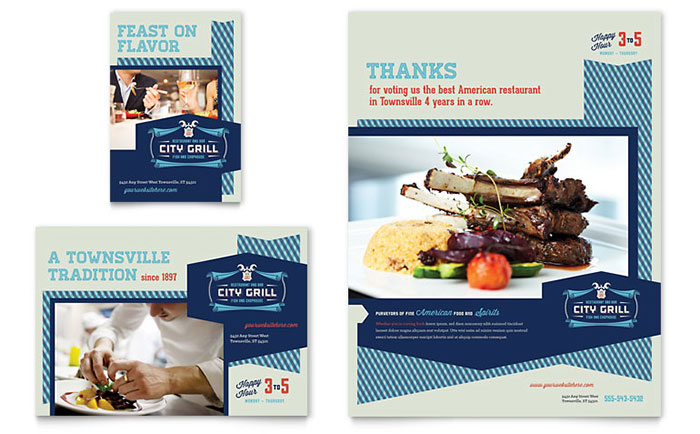 Fine Dining Restaurant Flyer & Ad Template - Word & Publisher