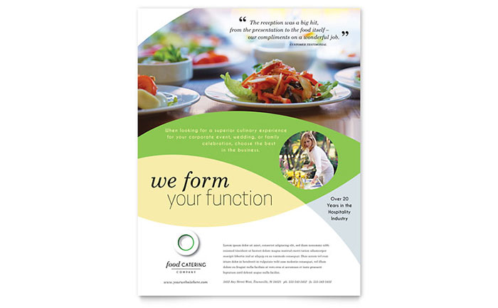 Food Catering Flyer Template Download - Word & Publisher - Microsoft Office
