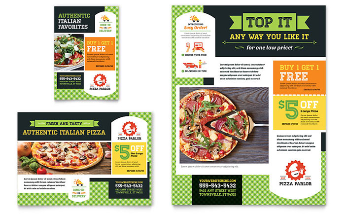 Pizza Parlor Flyer & Ad Template - Word & Publisher