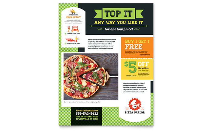 Pizza Parlor Flyer Template - Word & Publisher