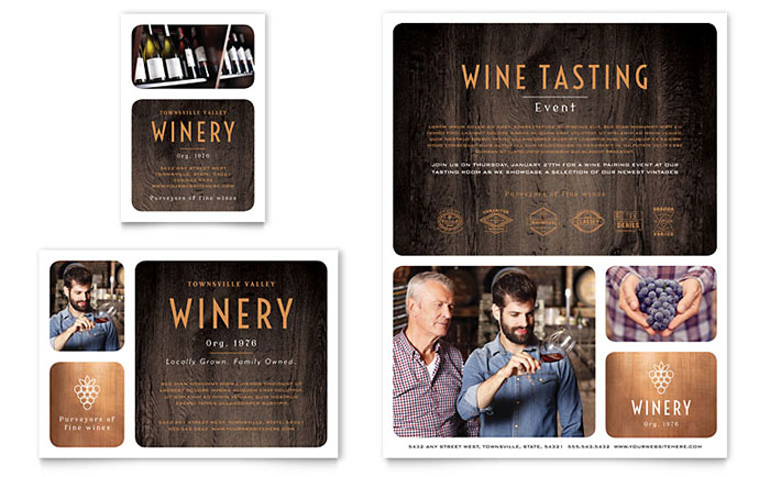 Winery Flyer & Ad Template Download - Word & Publisher - Microsoft Office