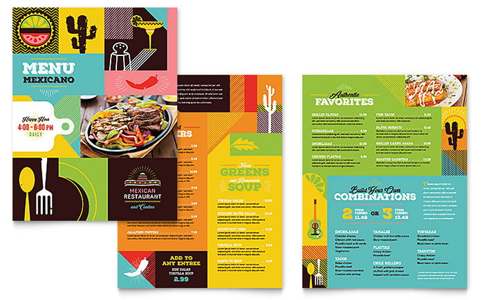 Mexican Food  Cantina Menu Template  Word  Publisher
