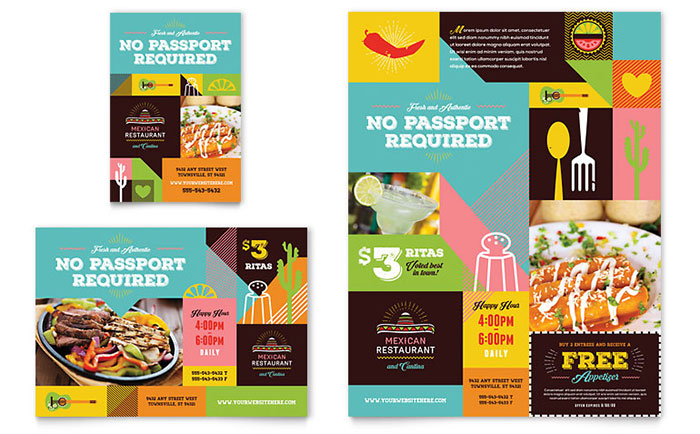mexican food cantina flyer ad template word publisher