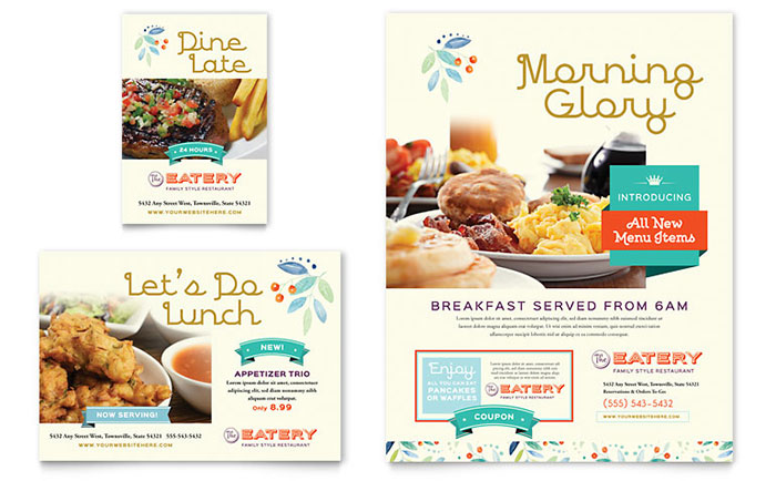 Family Restaurant Flyer & Ad Template Download - Word & Publisher - Microsoft Office