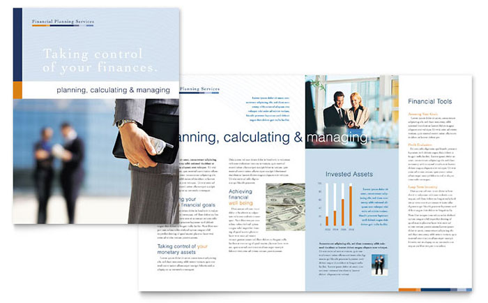 Financial Planning Consulting Brochure Template Word Publisher - Consulting brochure template