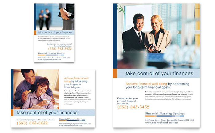 financial planning  u0026 consulting flyer  u0026 ad template