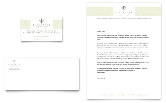life auto insurance company business card letterhead. Black Bedroom Furniture Sets. Home Design Ideas