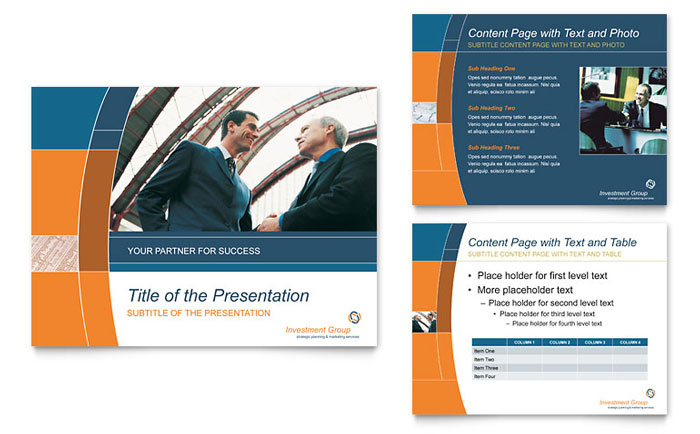 Investment Services PowerPoint Presentation Template - PowerPoint