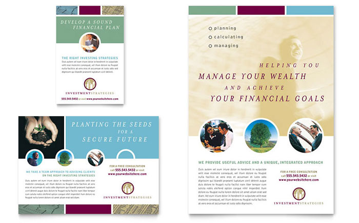 Financial Consulting Flyer Ad Template Word Publisher