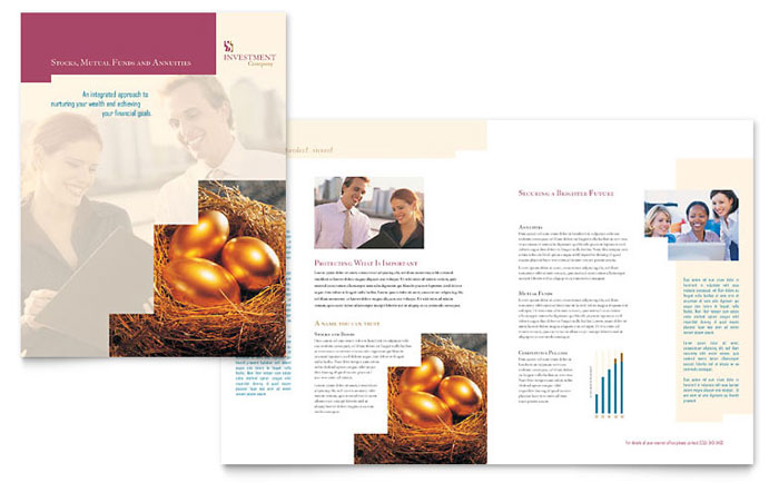 Investment Company Brochure Template - Word & Publisher