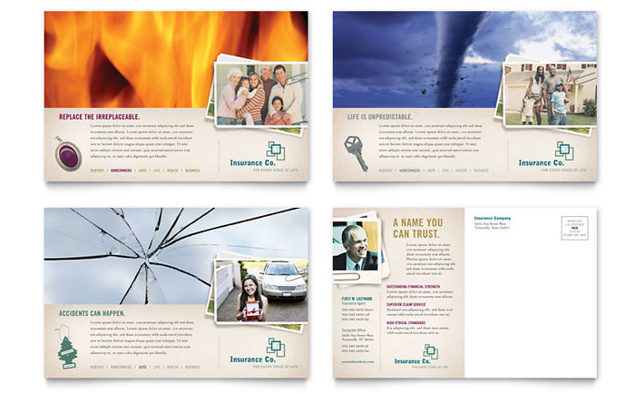 Life insurance company postcard template word publisher cheaphphosting Image collections