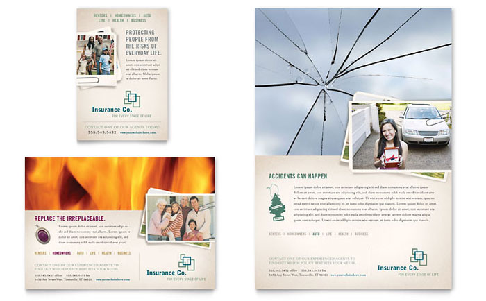 insurance advertising template design  Life Insurance Company Flyer