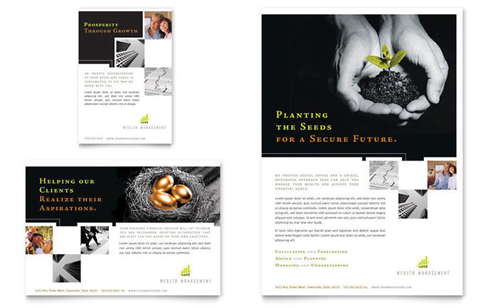 Wealth Management Services Flyer & Ad Template Download - Word & Publisher - Microsoft Office