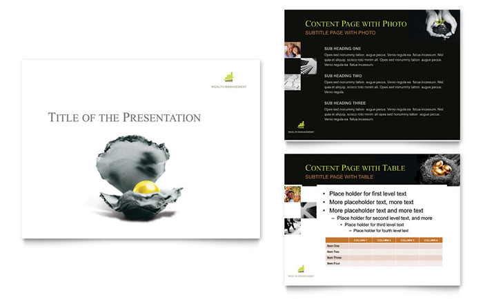 Wealth Management Services PowerPoint Presentation Template - PowerPoint