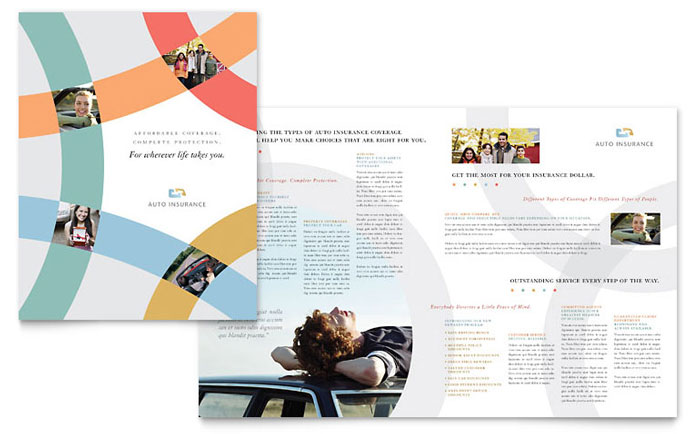 Car Insurance Company Brochure Template  Word  Publisher