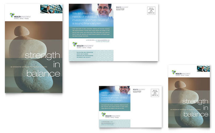Wealth Management Services Postcard Template - Word & Publisher