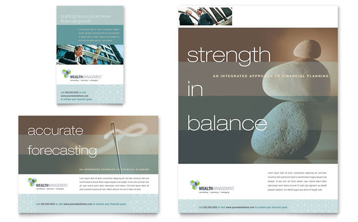 wealth management services flyer amp ad template word