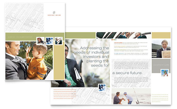 Investment Advisor Brochure Template - Word & Publisher