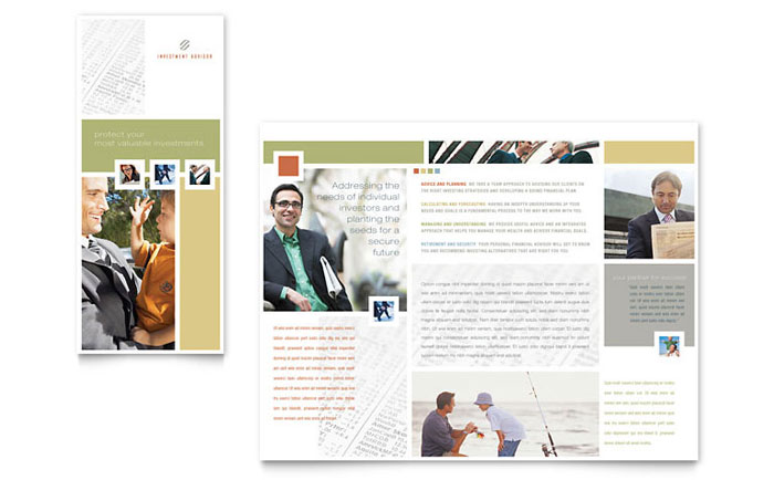 Investment Advisor Brochure Template Download - Word & Publisher - Microsoft Office