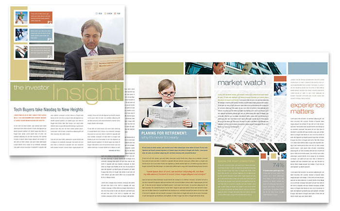 Investment Advisor Newsletter Template Download - Word & Publisher - Microsoft Office