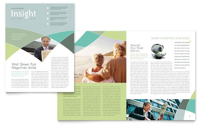 Financial advisor newsletter template word publisher toneelgroepblik Images