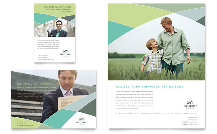 Financial Advisor Flyer & Ad Template - Word & Publisher