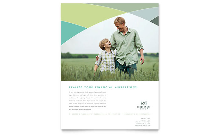Financial Advisor Flyer Template - Word & Publisher