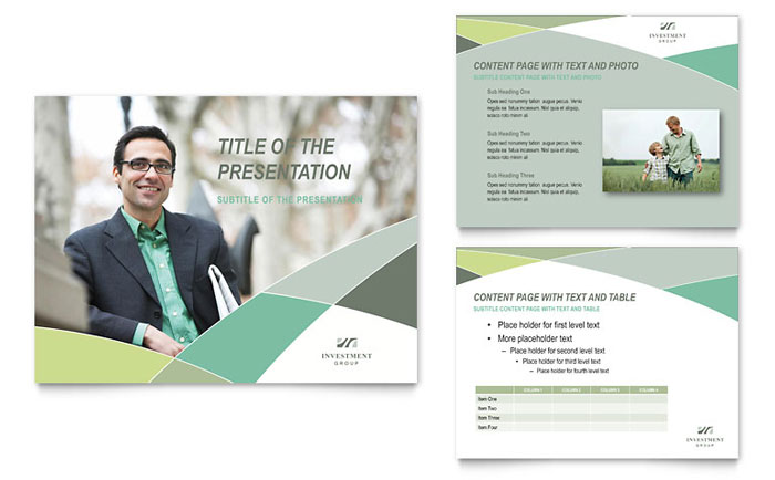 Financial Advisor PowerPoint Presentation Template - PowerPoint