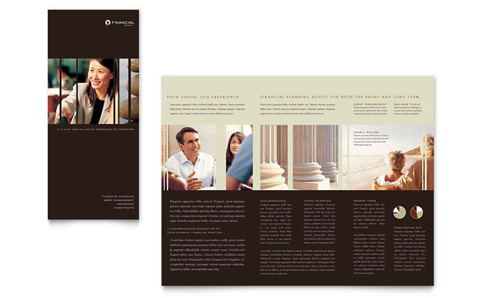 Financial Planner Brochure Template Download - Word & Publisher - Microsoft Office