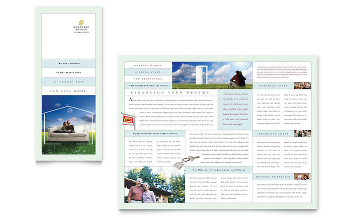 Mortgage Lenders Tri Fold Brochure Template Download - Word & Publisher - Microsoft Office