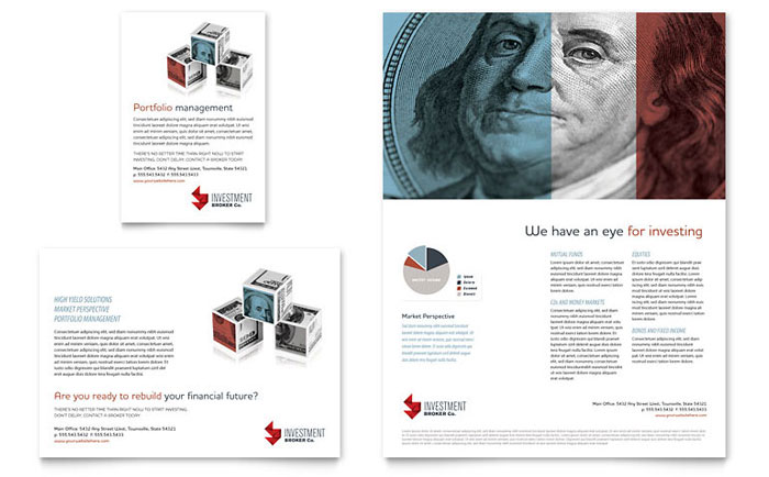 investment bank flyer  u0026 ad template