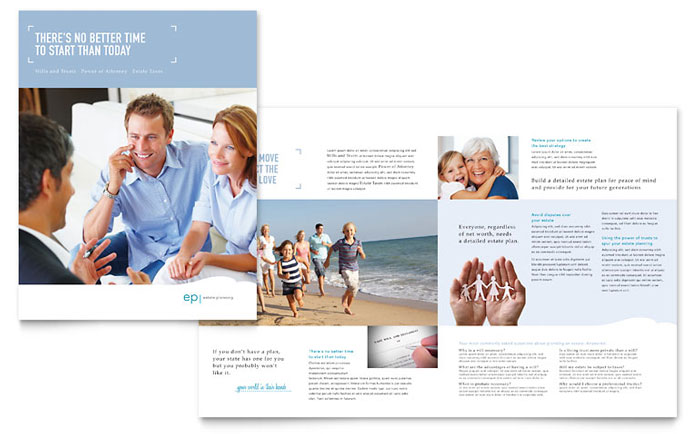 Estate Planning Brochure Template - Word & Publisher