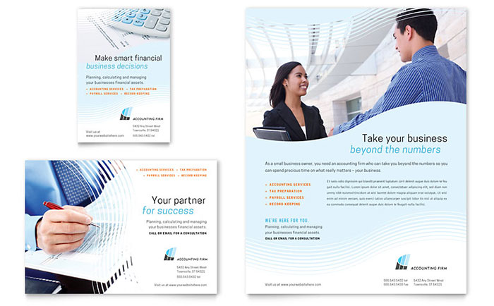 accounting firm flyer  u0026 ad template