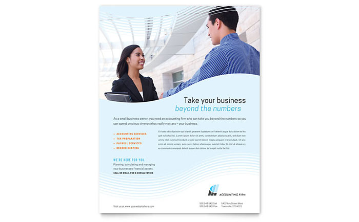Accounting Firm Flyer Template Download - Word & Publisher - Microsoft Office