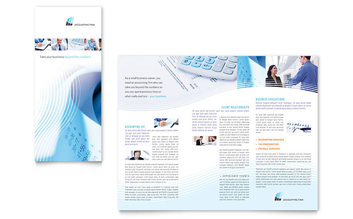Accounting Firm Tri Fold Brochure Template - Word & Publisher