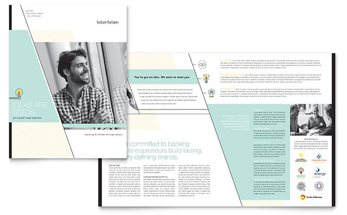 Venture Capital Firm Brochure Template - Word & Publisher