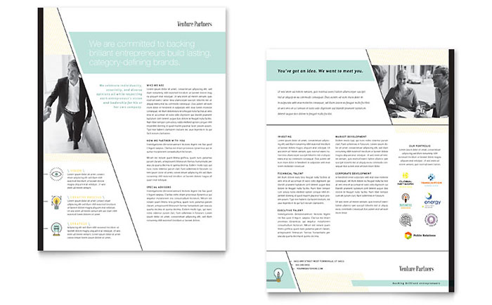 Venture Capital Firm Datasheet Template Download - Word & Publisher - Microsoft Office